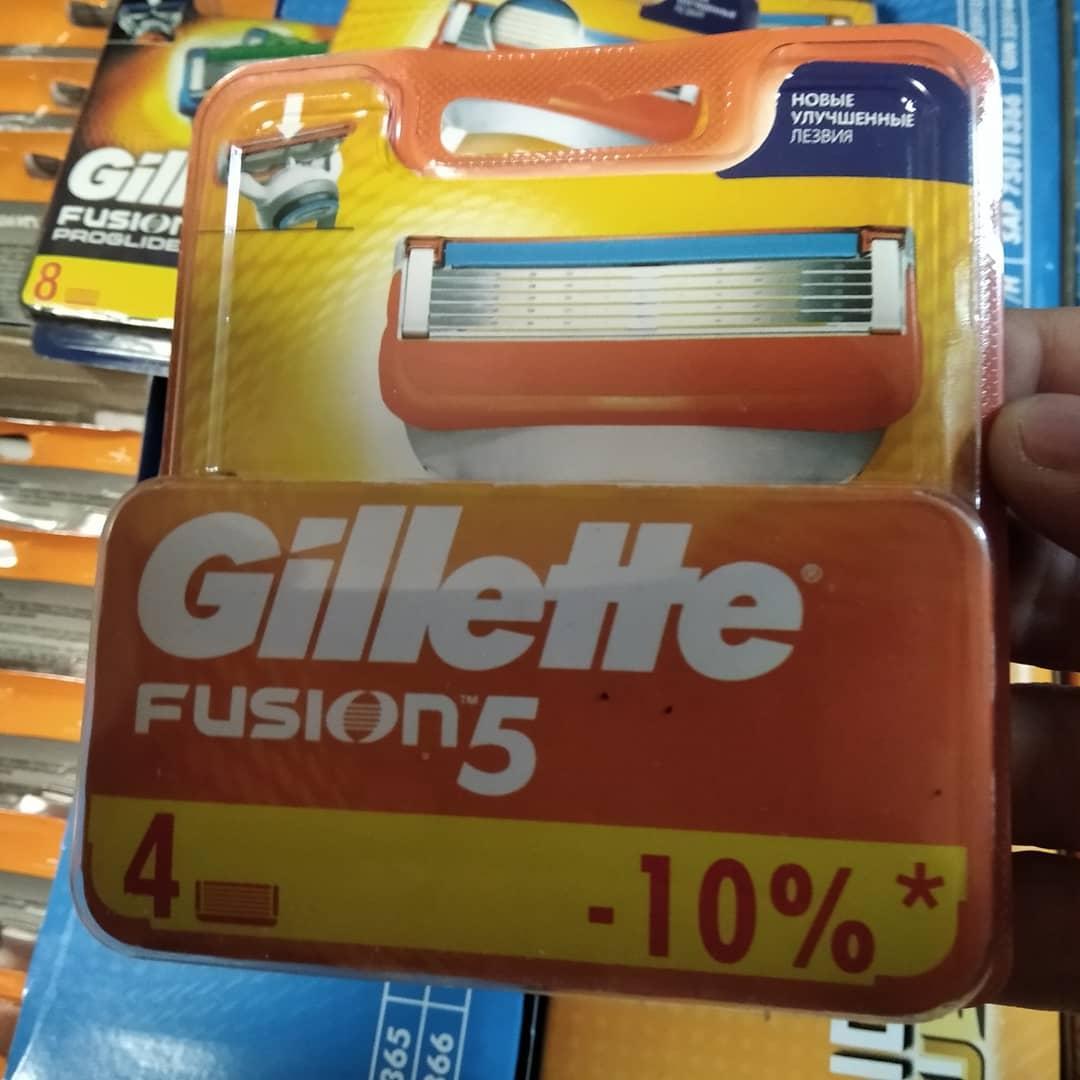Лезвия, кассеты, картриджи Gillette Fusion 5 4шт / Жилет Фьюжн 5 4шт