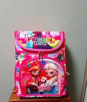 Рюкзак для девочки ортопедический каркасный 3D Эльза и Анна начальная школа