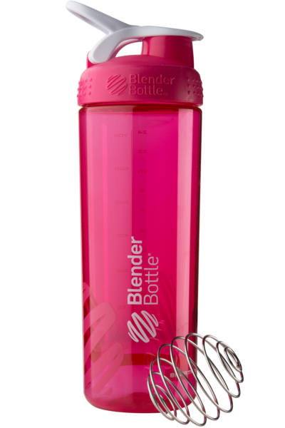 Спортивная бутылка-шейкер BlenderBottle SportMixer Sleek Promo 820ml Pink (ORIGINAL)
