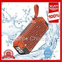 Портативная беспроводная Bluetooth колонка Hopestar P17 (Красная) USB, FM, стерео акустика, колонки на телефон