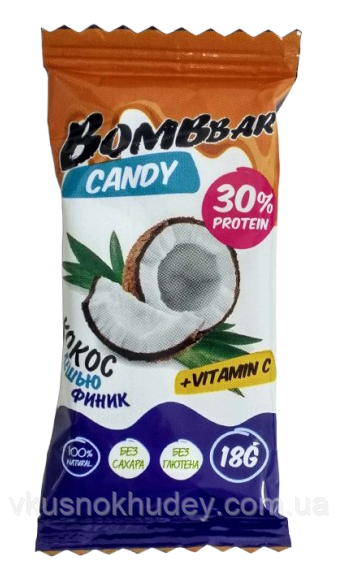 BOMBBAR Цукерка Фінік-Кокос-Кешью