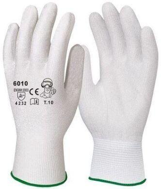 Перчатки для точных работ белые полиамидные