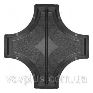 Фигурная пластиковая форма Рондо крест большой половинки 325×160×45 мм Вереск 1 шт
