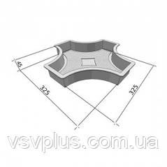 Фигурная пластиковая форма Рондо крест большой половинки 325×160×45 мм Вереск 1 шт, фото 2