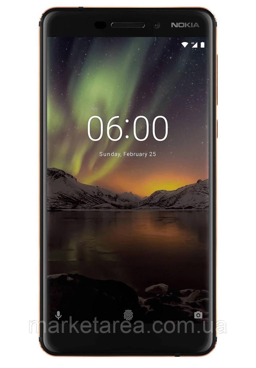 Смартфон нокіа чорний з функцією нфс і хорошою камерою на 2 сім карти Nokia 6.1 TA-1043 3/32Gb black