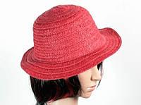 Соломенная шляпа Бебе 29 см красная