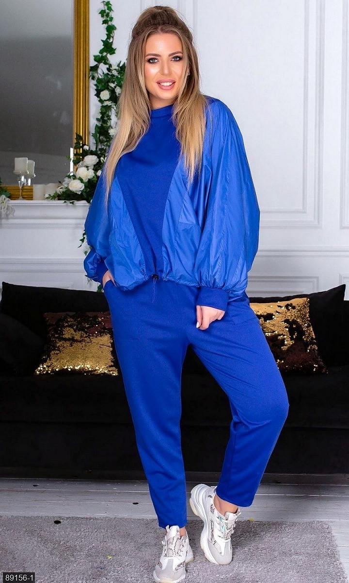 Спортивный костюм синий Весна Украина 48 большого размера 89156-1