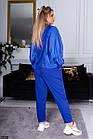 Спортивный костюм синий Весна Украина 48 большого размера 89156-1, фото 2
