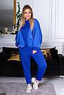 Спортивный костюм синий Весна Украина 48 большого размера 89156-1, фото 3