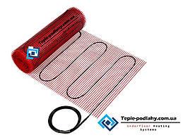 Теплый пол под плитку тонкий двужильный мат FLEX EHM - 8 м.кв  (1400 вт) цена/качество (эффективный обогрев )