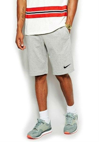Мужские спортивные шорты Найк, шорты Nike летние, Турецкий трикотаж, реплика, Серый