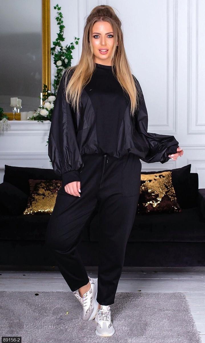 Спортивный костюм  черный Весна Украина 48 большого размера 89156-2