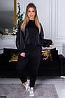 Спортивный костюм  черный Весна Украина 48 большого размера 89156-2, фото 2