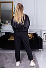Спортивный костюм  черный Весна Украина 48 большого размера 89156-2, фото 3