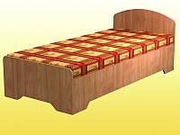 Кровать № 2, 1-спальная, с закруглениями — 2036х936х750 мм