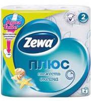"""Туалетная бумага """"ZEWA plus"""" 4 рулона"""