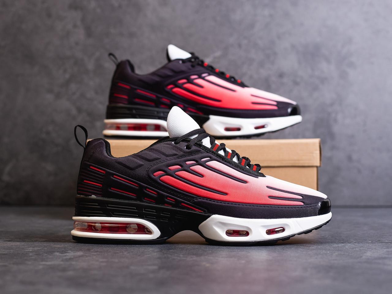 Красные мужские кроссовки молодежные текстильные кросовки красные с черным