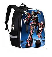 Рюкзак школьный робот Transformer Red для мальчика 1 класс начальной школы