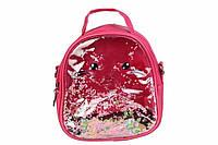 Детский прозрачный рюкзак Котик (Малиновый)