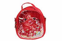 Детский прозрачный рюкзак Котик (Красный)