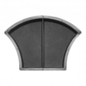 Фигурная форма Чешуя шагрень половинки 116×168×45 мм Вереск 1 шт, фото 2