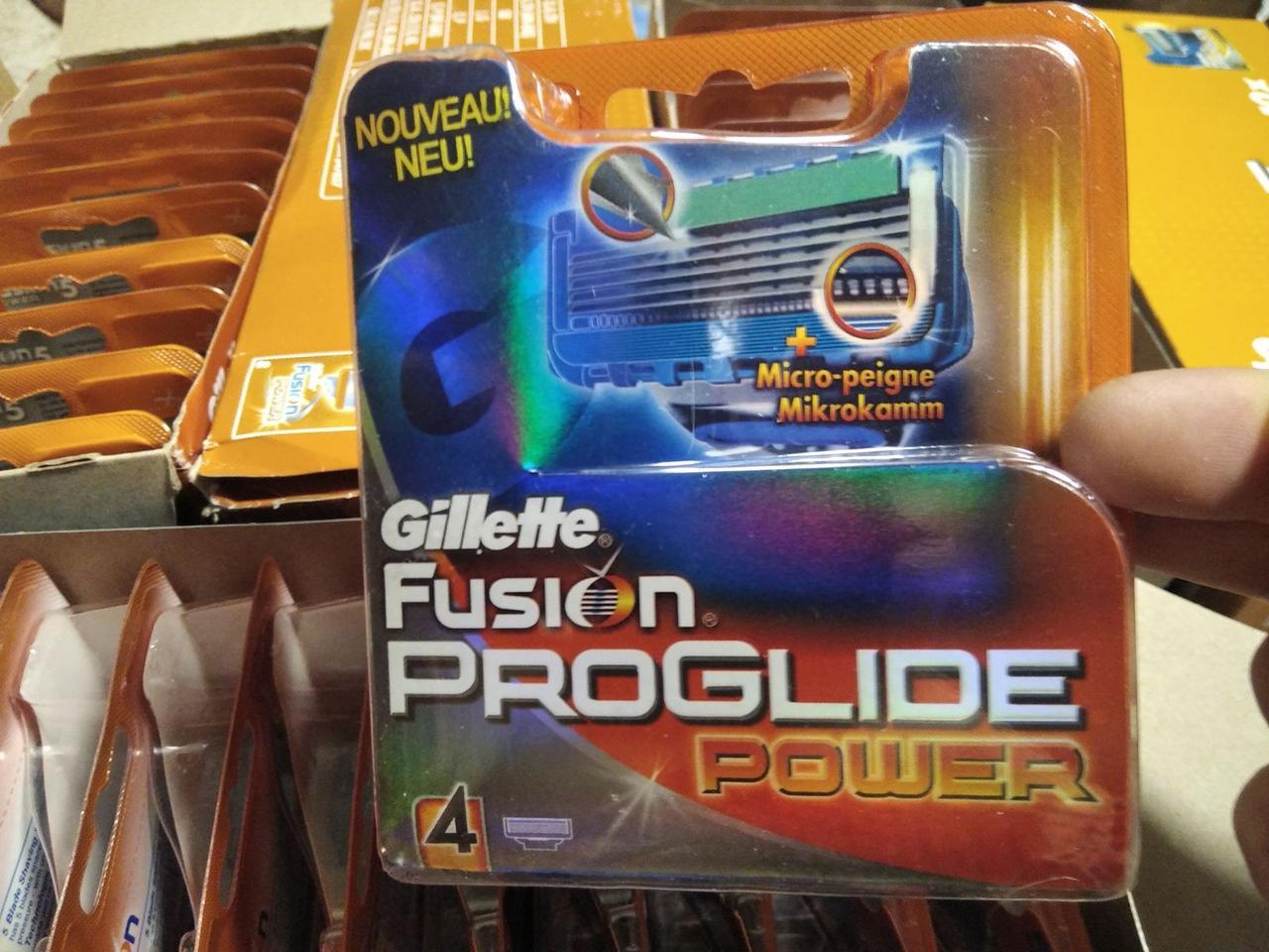 Леза.касети, картриджі Gillette Fusion Proglide Power 4 шт / Жилет Ф'южн Проглайд Павер