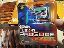Лезвия.кассеты, картриджи Gillette Fusion Proglide Power 4 шт / Жилет Фьюжн Проглайд Павер
