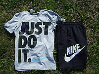 Мужской костюм футболка и шорты Найк, футболка и шорты Nike,брендовый,трикотаж