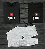 Мужской костюм две кофты и штаны Зе Норс Фейс, спортивный костюм The North Face,Турецкий трикотаж