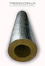 Скорлупа базальтовая Ø 76/40 для изоляции труб кашированная фольгой, фото 3
