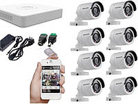 Комплект 2МП камер Hikvision DS-2CE16D0T-IRF+ 2Тб жесткий диск