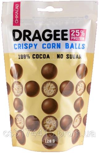 Протеїнове драже CHIKALAB Кукурудзяні Кульки в Молочному Шоколаді (120 грам)