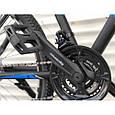 Спортивный горный велосипед TopRider 611 29 дюймов черно синий, фото 5