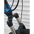 Спортивный горный велосипед TopRider 611 29 дюймов черно синий, фото 3