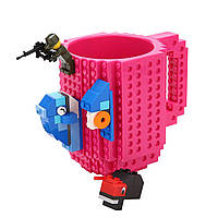 Кружка-конструктор Lego 350мл Dark Pink
