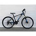 Спортивный горный велосипед TopRider 611 29 дюймов черно синий, фото 2