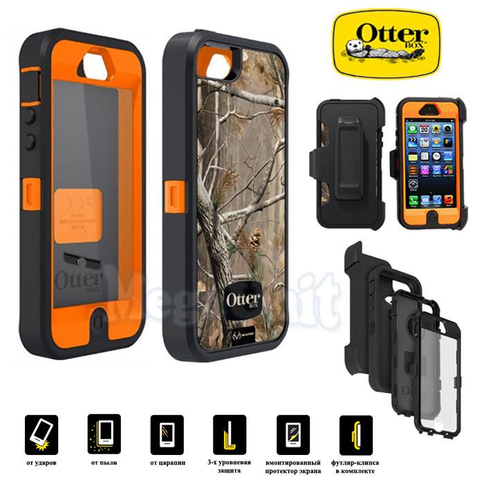 OtterBox Defender Противоударный чехол для Apple iPhone 5 (AP Camo Blazed orange)