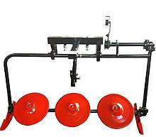 Роторная косилка на мотоблок трехдисковая КР-06