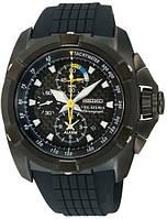 Мужские часы Seiko SNAE17P1 Velatura Alarm Chronograph Black
