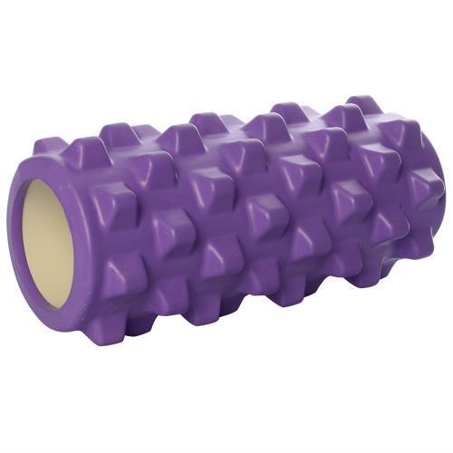 Массажный валик (MS 0857-9-V)  Фиолетовый 33х13 см.