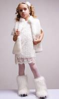 Нарядное белое платье Sofia Shelest,праздничное, белое, с вышивкой