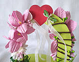 Свадебная подставка для обручальных колец Счастливый день, арка, розовая LA BEAUTY Studio эксклюзив, фото 2