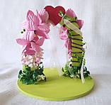 Свадебная подставка для обручальных колец Счастливый день, арка, розовая LA BEAUTY Studio эксклюзив, фото 3