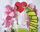 Свадебная подставка для обручальных колец Счастливый день, арка, розовая LA BEAUTY Studio эксклюзив, фото 4