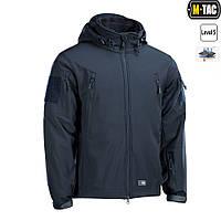 M-Tac зимняя куртка Soft Shell с подстежкой Dark Navy Blue+ПОДАРОК