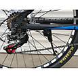 Спортивный горный велосипед TopRider 611 29 дюймов черно синий, фото 6