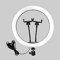 Селфи лампа с двумя держателями для телефона