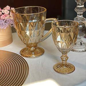 """Набор для напитков """"Зеркальный Изумруд"""" янтарь DV-07204DL/BH"""