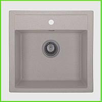 Кухонная гранитная мойка AQUA Айвори / кухонна гранітна мийка 505/500/200