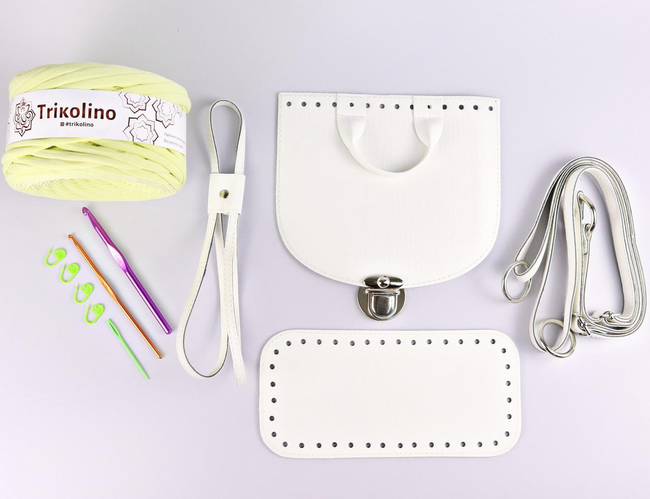 Набор для рюкзака экокожа Белый МАКСИ (10 позиций-Банановый шейк) фурнитура серебро